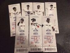 Boston Red Sox 2017 Unused Season Ticket Stubs Fenway Park