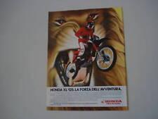 advertising Pubblicità 1985 MOTO HONDA XL 125