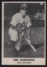 1949 Remar Oakland OAKS PCL BB Card - Mel Duezabou