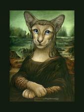 Parodia Gato Siamés impresión Mona Kitty Original By me garmashova