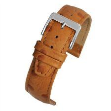 10mm - 20mm Tan alta qualità per i cinturini grano di struzzo con fodera in nabuk