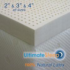 NEW Certified 100% Natural Dunlop Latex Mattress Pad Topper, Green US Made