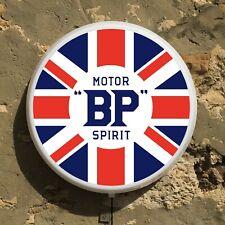 BP MOTOR SPIRIT LED SIGN WALL MOUNTED LIGHT BOX GARAGE VINTAGE AUTOMOBILIA