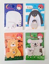 ORSO Polare Pinguino KOALA LEONE Carino Kawaii Kitsch Sticky Notes Post il suo set di memo