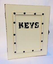 Shabby Wall Mounted Keys Rack Holder Hanger Hook Storage Box Cabinet Organiser