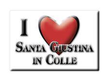 CALAMITA VENETO FRIDGE MAGNETE SOUVENIR I LOVE SANTA GIUSTINA IN COLLE (PD)