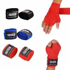 2Pcs Boxing Cotton Bandage Sanda Muay Thai MMA Taekwondo Hand Wraps Strap trap