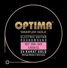 Optima maxiflex 24k Gold Strings e-guitarras cuerdas frase Strings set