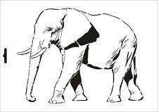 Wandschablone Maler T-shirt Schablone W-053 Elefant ~ UMR Design