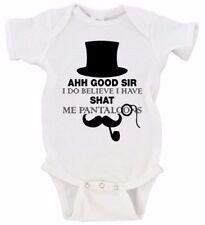 Ah! Good Sir I Do Believe I Have Shat Me Pantaloons | Funny Poop Gerber Onesie