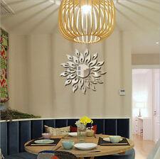 3D Sunflower Mirror Acrylic Foral Sticker Home Decal Home Wall Decor Sticker HX