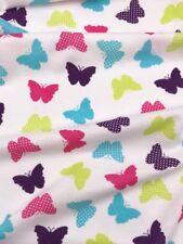 Jersey Interlock  Kinderstoff Baumwolle Schmetterlinge Breite 155cm ab 50 cm