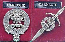 Badge or Kilt Pin Carneg 00004000 ie Scottish Clan Crest Pewter