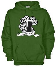 Felpa Con Cappuccio KJ1155 Irish Beer Guinnes San Patrizio Irish Shamrock