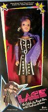 1986 Creata Black Hair Lace Celebrity Rock Star Doll Nrfb Glittery Glamorous