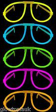 X 25 lueur dans l'obscurité lunettes-Glow Stick Fluo Lumineux verres parties festivals