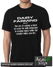 Funny Farming Farmer Tractor T Shirt Massey Claas Case Fendt - dairy farming