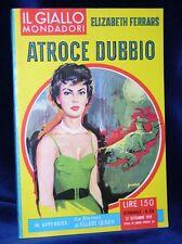ATROCE DUBBIO - Giallo Mondadori 1959