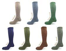 90% British wool knee high country outdoor walking Wellington sock, S to XL