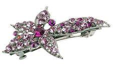Debenham Chic Amatista Starburst Floral Cabello Clip Pasador W / Cristales Swarovski