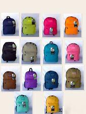East West Classic Solid Colors  School Backpack   Unisex Bag Bookbag , NEW