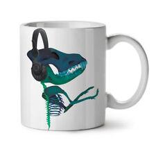Auriculares De Dinosaurio Música Nuevo Blanco Té Café Taza 11 OZ (approx. 311.84 g) | wellcoda