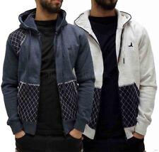 D-Rock Mens Boys Denim Patch Zip Up STAR HOODIE Style Jacket Hip-Hop G Club Wear