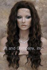 HUMAN HAIR Blend Long Wavy Black Auburn wig Flat Iron WBBZ 1B-30