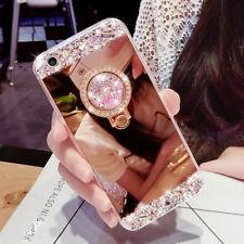 Luxury Bling Diamond  Ring Holder Stand Mirror Case Phone Cover Samsung J4 J6 J3
