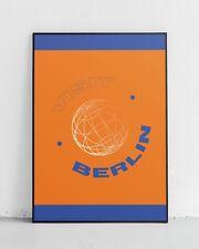 Visita Berlino! stampa Arte Grafica, Vacanze, turismo, design, Globe, sfera, POSTER