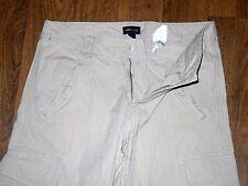 H&M L.O.G.G Relaxed Fit Carpenter Straight leg Men's Beige pants Jeans Sz 32x33