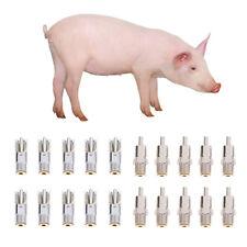 10pcs Metal Pig Automatic Nipple Drinker Waterer Feeder