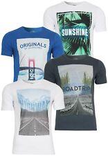 Jack&Jones Camiseta Hombres jorspain Tee Slim Ajuste Vacaciones