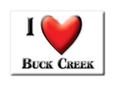 SOUVENIR USA - INDIANA FRIDGE MAGNET I LOVE BUCK CREEK (TIPPECANOE COUNTY)