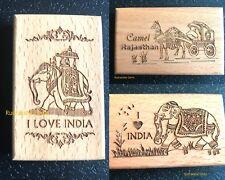 FRIDGE MAGNETS INDIA INDIAN ELEPHANT CAMEL HANDICRAFT WOODEN CARVED SOUVENIR TOP