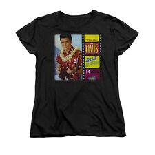 ELVIS PRESLEY BLUE HAWAII ALBUM Licensed Women's Graphic Tee Shirt SM-2XL