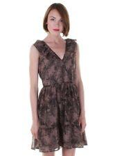 Darling Mink Black Fern Dress S-XL UK 10-16 RRP �59 Elizabeth Chiffon Wrap