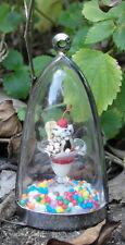 Ice-cream sundae diorama necklace! ice cream sunday miniature dollhouse handmade