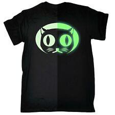 Funny t shirt Glow In The Dark Cat Face Animal tshirt tshirts T-SHIRT Birthday