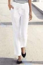 New Womens White Linen NEXT Trousers Size 14 12 10 8 6 Tall Long Regular Petite