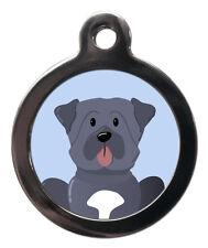 Mastiff razza Carino Divertente Pet Tags-Collare Cane Gatto ID Tag-Libera Inciso