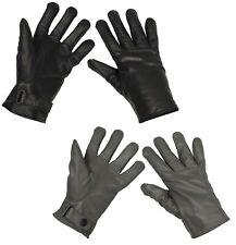 Lederhandschuhe Handschuhe Winter Bundeswehr gefüttert Fingerhandschuhe Herren