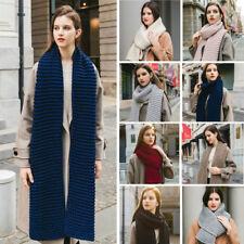 Mens Women Winter Warm Xmas Knitting Wool Thick Scarf Long Shawl Wrap Scarves