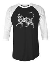 Cat Typography Unisex Raglan T-Shirt Pet Lover Gift Idea