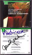POSTNIKOVA & ROZHDESTVENSKY Signiert SCHNITTKE Piano Concerto CD Irina Viktoria