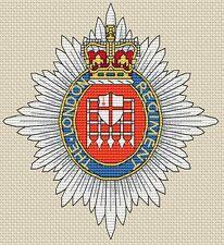 "London Regiment Army Cross Stitch Design (5.5x6"", 14x15cm, kit or chart)"