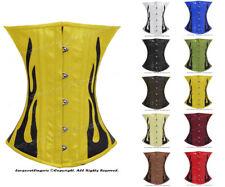 Genuine Leather Stecche Acciaio Pesante Allacciatura Sottoseno Shaper Corset #9033 (B)