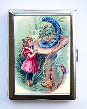 Alice in Wonderland Cigarette Case Wallet Business Card Holder caterpillar