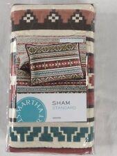 NIP Martha Stewart Collection  One Standard Pillow Silver City Stripe Sham Quilt
