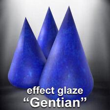 "#FR ""Gentiane"" Effet Glaçure Céramique Emaux Faïence Glaze Degussa Earthenware"